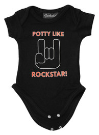 Potty Like a Rockstar Baby Grow