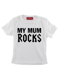 White My Mum Rocks Kids T-Shirt