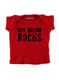 Red My Mum Rocks Baby T-Shirt