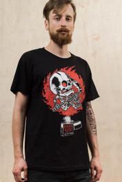 Zippo Skull Mens T Shirt