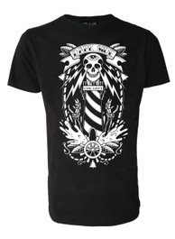 Lighthouse Skull Mens T Shirt