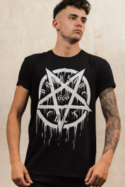 Pentagram 666 Mens T Shirt