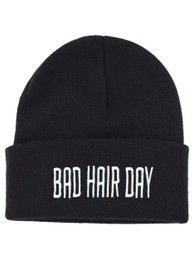 Bad Hair Day Embroidered Beanie Hat