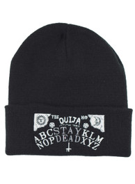 Stay Dead Ouija Board Embroidered Beanie Hat