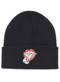 Happy Pill Tongue Embroidered Beanie Hat