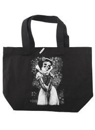 Snow White Skeleton Tote Bag