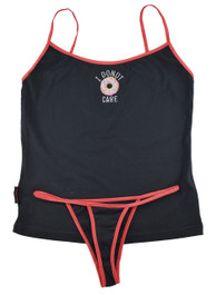 I Donut Care Thong Set With Red Trim