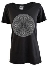 Mandala Womens Scoop Neck T Shirt