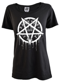 Pentagram Cult 666 Womens Scoop Neck T Shirt