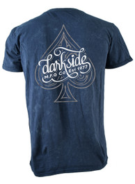 Ace Of Spades Mens Blue Burn Out T Shirt
