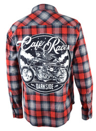 Cafe Racer Checked Flannel Shirt
