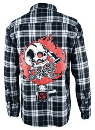 Zippo Skull Checked Flannel Shirt