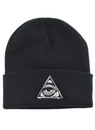 Seeing Eye Embroidered Beanie Hat