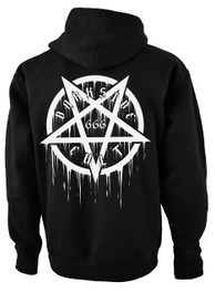 Pentagram Cult 666 Fleece Zip Hood