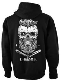 Bearded Skull Fleece Zip Hood