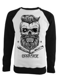 Bearded Skull Black and White Sweatshirt