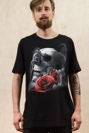 Tattoo Gun Skull Mens T Shirt