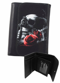 Tattoo Gun Skull and Rose Wallet