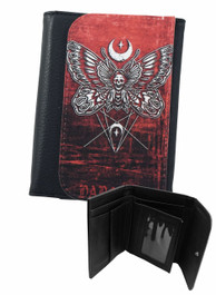 Death Moth Mens Wallet