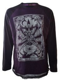 Baphomet Purple Mens Mesh Raglan