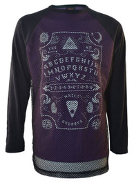 Ouija Board Purple Mens Mesh Raglan