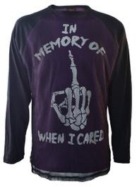 In Memory of When I Cared Purple Mens Mesh Raglan