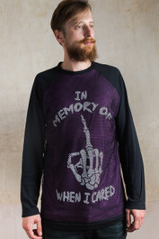 In Memory of When I Cared Purple Mens Mesh Raglan
