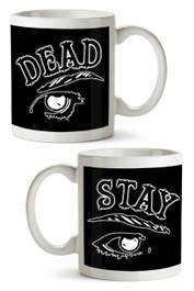 Stay Dead Black Print Mug