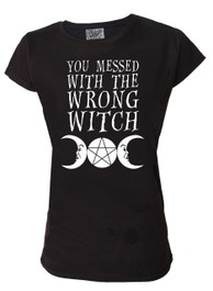 You Messed With The Wrong Witch Womens Scoop Neck T Shirt