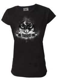 Protected By Witchcraft Eyes Womens Scoop Neck T Shirt