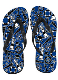Nautical Tattoo Flip Flops