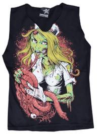 Zombie Nurse V Neck Vest