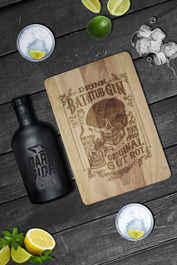 Bathtub Gin Engraved Wooden Chopping Serving Board