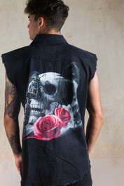 Tattoo Gun Skull Workshirt