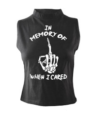 In Memory Of When I Cared High Neck Vest