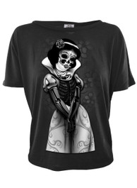 Snow White Skeleton Open Back Top