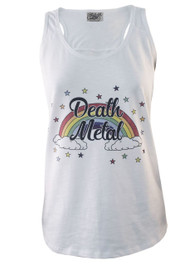 Death Metal White Slub Vest