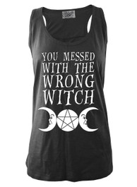 You Messed With The Wrong Witch Black Slub Vest