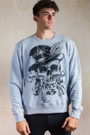 Voodoo Skull Grey Sweatshirt