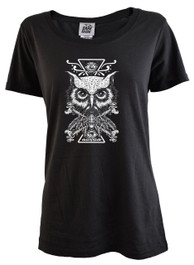 Darkside Owl Womens T Shirt