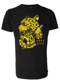 Leopard Skull Mens T Shirt