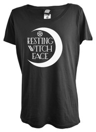 Resting Witch Face Womens Scoop Neck T Shirt