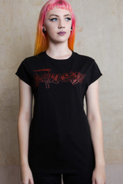 Darkside Death Logo Womens Scoop Neck T Shirt
