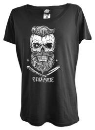 Bearded Skull Womens Scoop Neck T Shirt