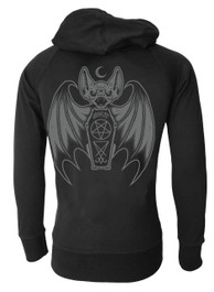 Bat Cotton Zip Hood