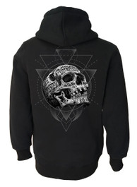 Inked Skull Fleece Zip Hood
