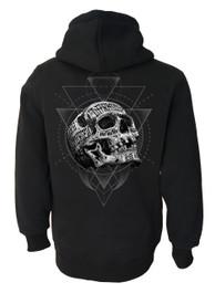 Inked Skull Fleece Zip Hood