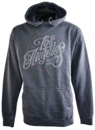 LA Logo Grey Washed Pullover Hood