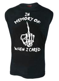 In Memory Of When I Cared Mens Sleeveless Vest
