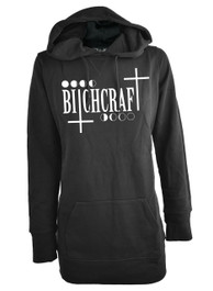 Bitchcraft Womens Skinny Fit Pullover Hood
